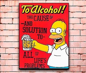 Постер «Симпсоны» средний