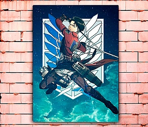 Постер «Атака титанов» средний