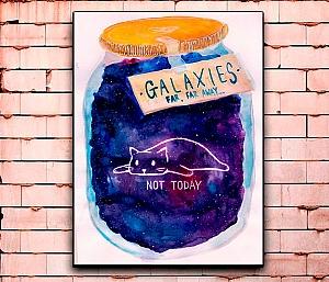 Постер «Galaxies far, far away...» средний