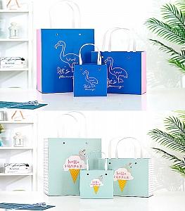 Подарочный пакет «Let's flamingle» средний