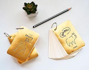 Блокнот с отрывными листами «Gold animals»