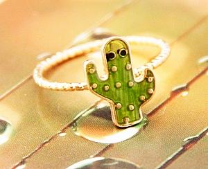 Кольцо «Green cactus»