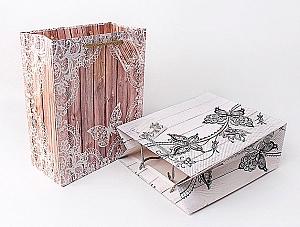 Подарочный пакет «Butterfly» маленький