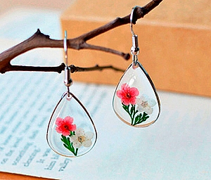 Серьги «Мир цветов»