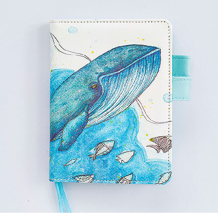 Блокнот-планинг «Кит в океане»
