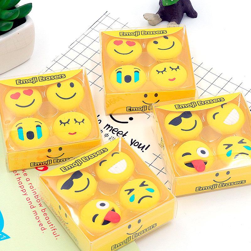 Набор стирательных резинок «Emoji»