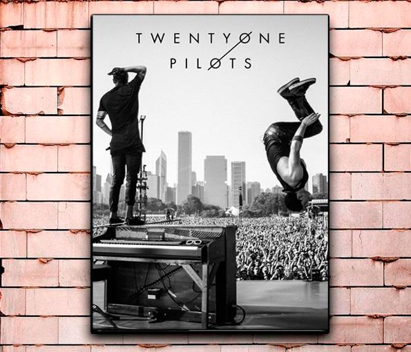 Постер «Twenty One Pilots» средний