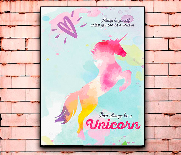 Постер «Unicorn» большой