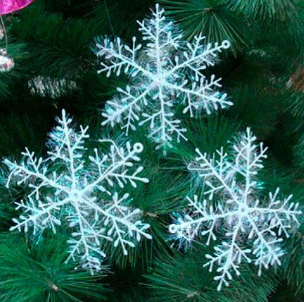 Набор новогодних снежинок