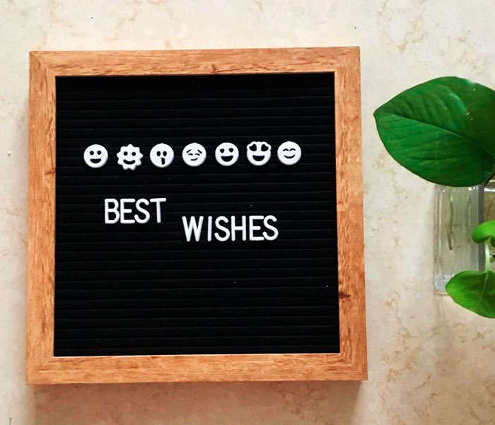 Пишущая доска «Best wishes»