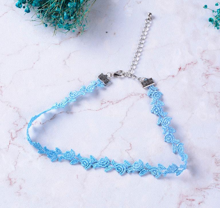 Чокер «Blue flower»