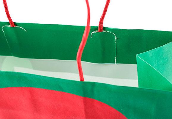 Подарочный пакет «Here comes Santa» маленький