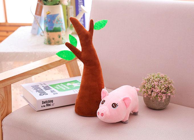 Мягкая игрушка «Свинка на дереве»