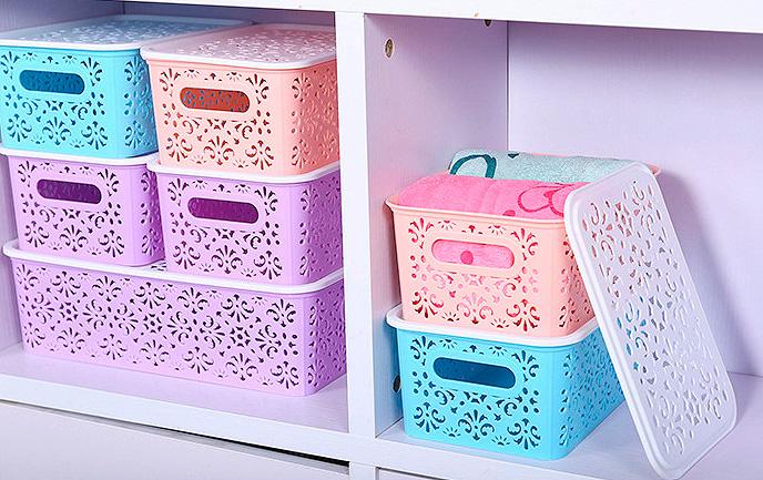 Узорчатая корзинка для хранения вещей