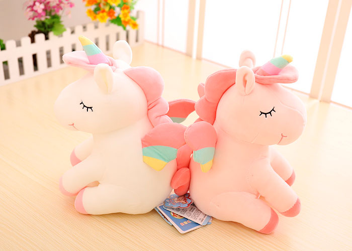 Мягкая игрушка «Спящий единорожек» 25 см