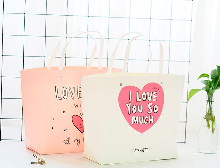 Подарочный пакет «I love you so much» маленький