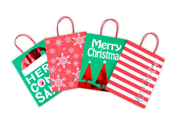 Подарочный пакет «Here comes Santa» средний