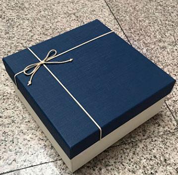 Подарочная коробка «White & blue» маленькая