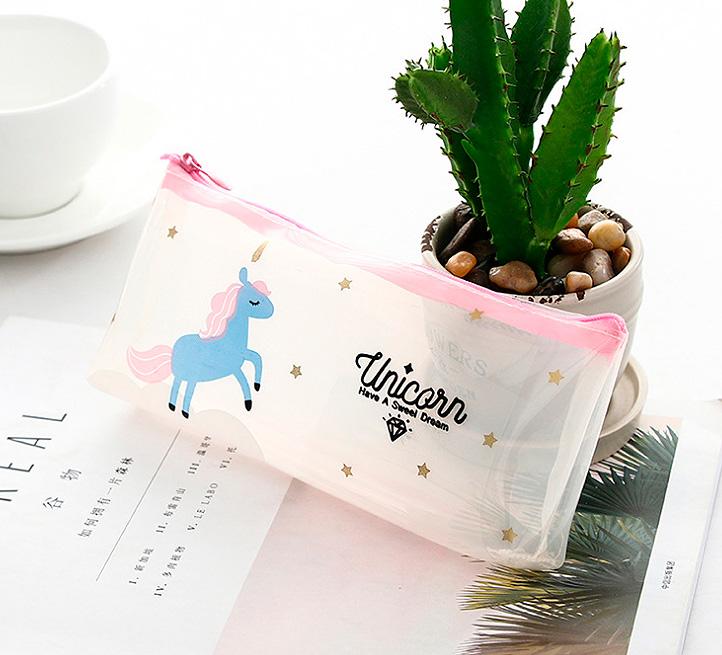 Прозрачный пенал «Unicorn have a sweet dream»