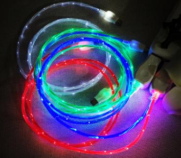 USB кабель для зарядки телефона «Flicker», светящийся