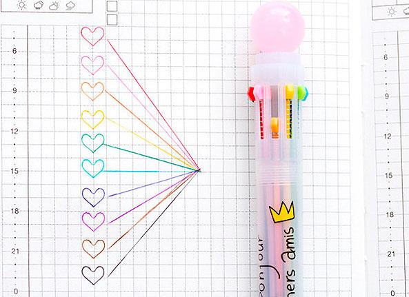 Ручка с 10-ю стержнями «My crown»